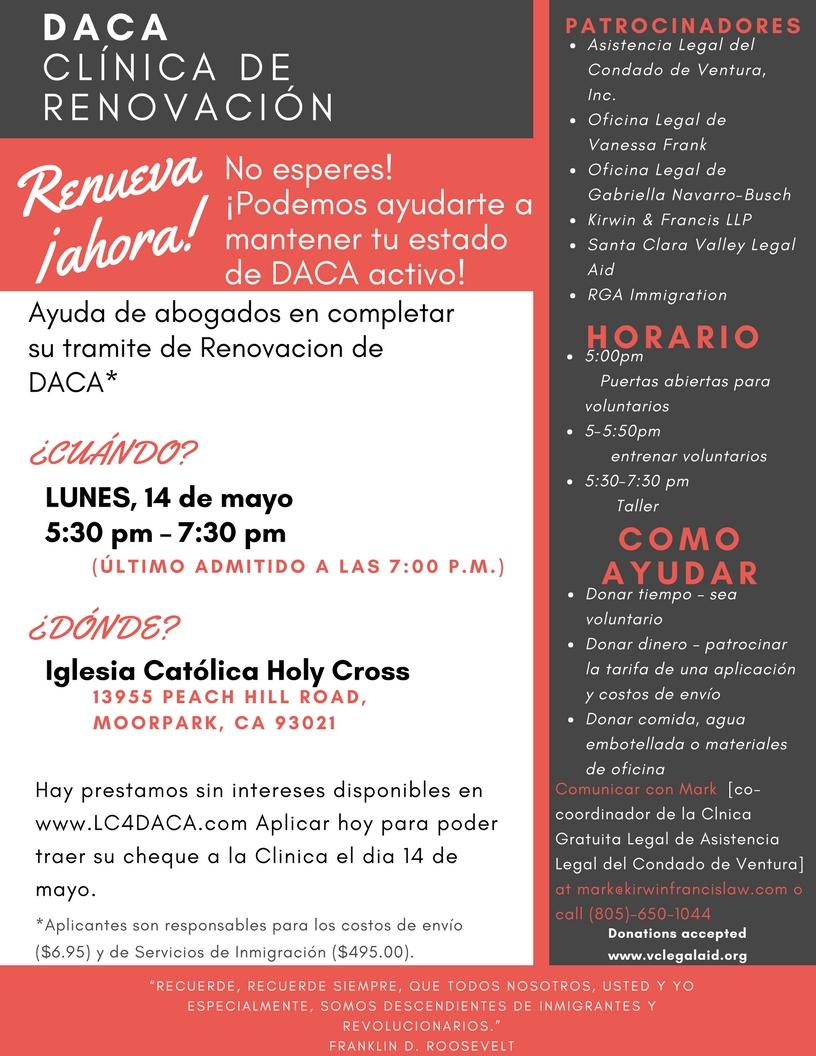may DACA CLINIC Spanish3