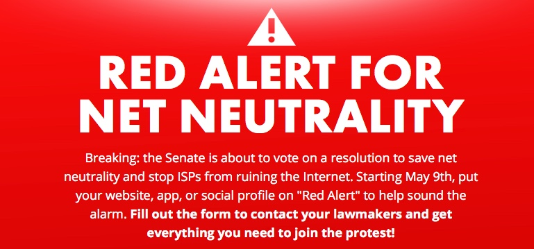 Wed. 5/9: This is the day to start calling legislators on Net Neutrality like your internet depends on it. It does.