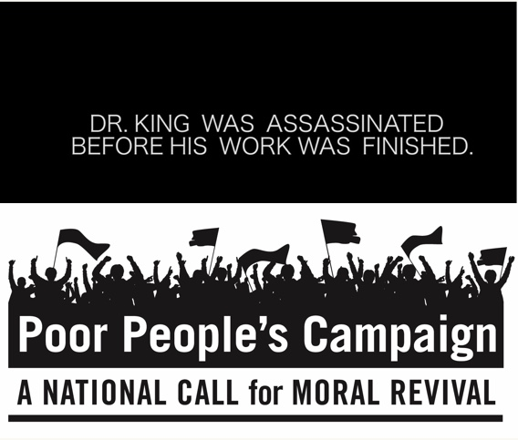 The Poor People's Campaign has started again, 50 years later. We'rein.