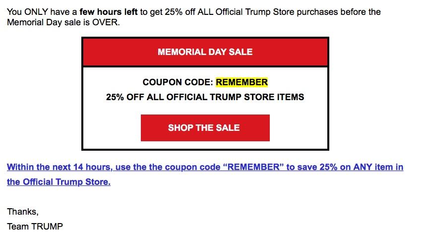 trump sale