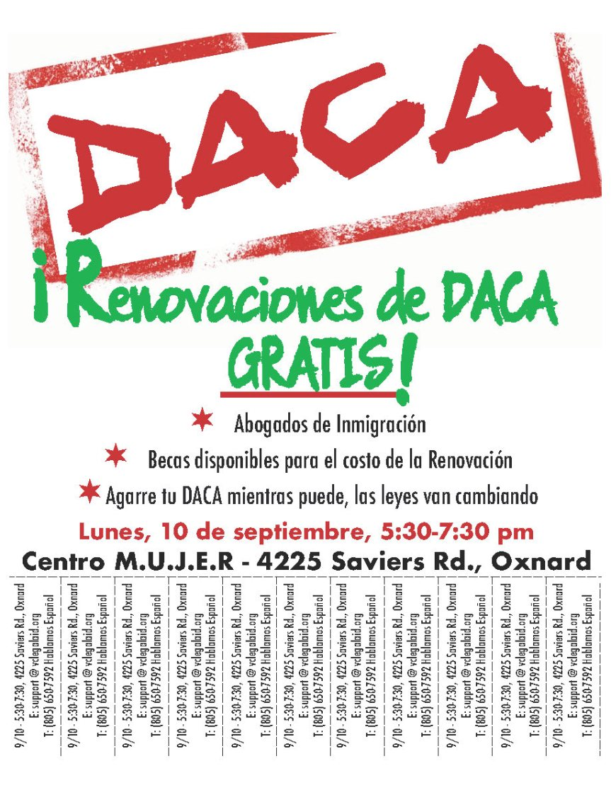 DACA SIGN 9.10 spanish
