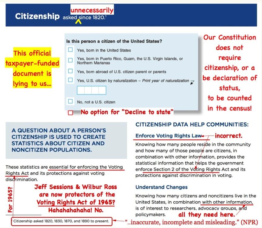 Mon 9/17: Last minute action! – Stop the census citizenship question. Comment  Deadline Today, 9/17, at 11:59EST!