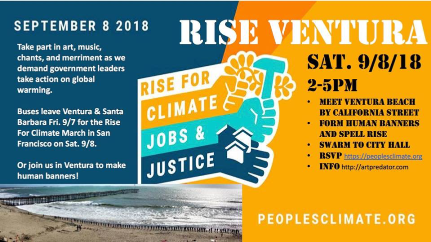 Fri 9/7: Get ready for the Climate March tomorrow. Dress like fire.