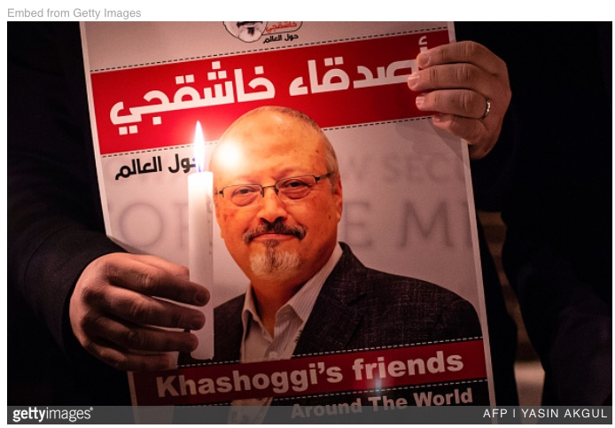 "Fri – 11/30: Sign this petition to rename the street address of the Saudi Embassy ""Jamal Khashoggi Way""."