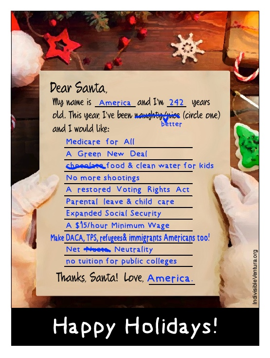Tues – 12/18: It's time for a holiday postcard to send to yourlegislators!