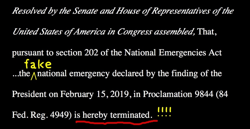 Mon – 2/25: They're voting on H.J.Res. 46 – #FakeNationalEmergency tomorrow!