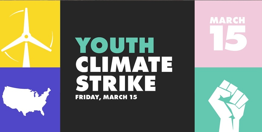Join in – be an ally! Youth Climate Strike this Friday,3/15!