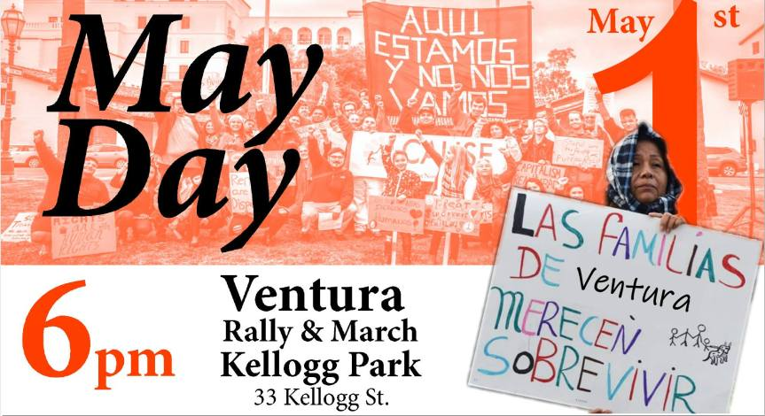 Wed. – 5/1: Taking back the real May Day! Not just one day off in September, but justice 24/7. Come join in!