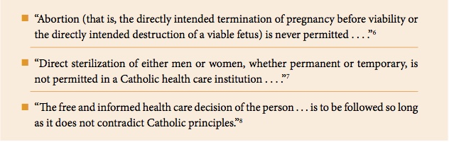 catholic healthcare directives