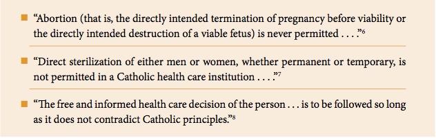catholic healthcare directives