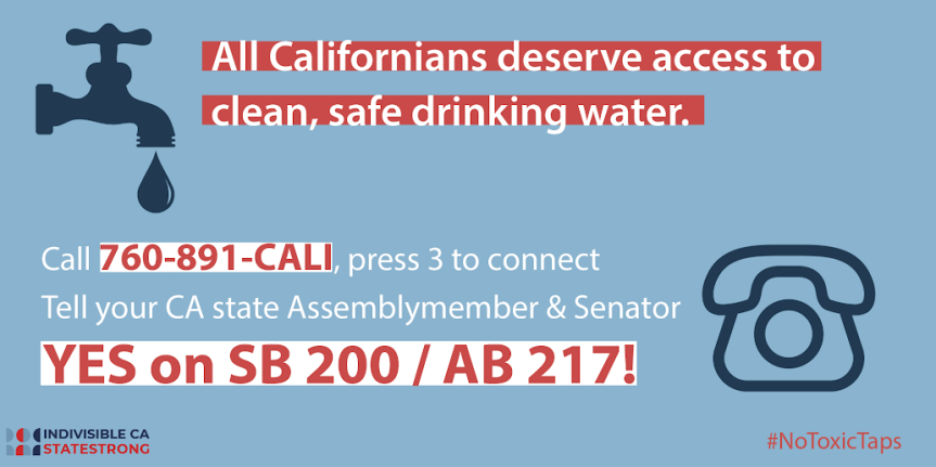 "Thurs 5/23: SB 200 / AB 217 – Drinking Water  – ""Nearly every Californian is exposed to unsafe drinking water."""