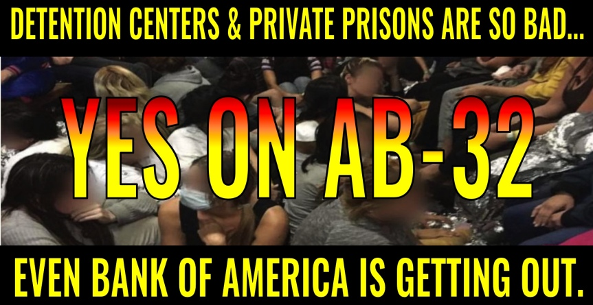 Mon 7/8: AB-32 is now in Public Safety. Call Hannah-Beth again today and tell her to keep up the fight against the private prison business.