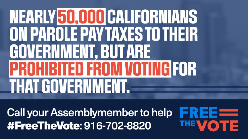 Wed 8/21: Call Your Assemblymember –  Tell Them to #FreeTheVote