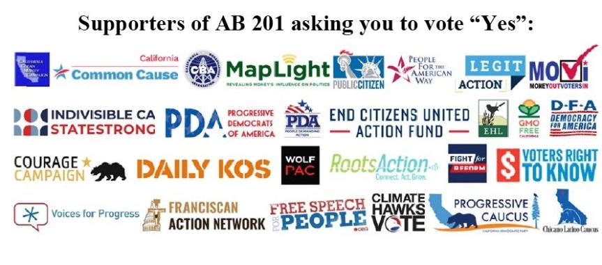 Wed 9/11: FAST ACTION!!! Integrity in elections starts at home with AB 201! Call Senator Leyva now!