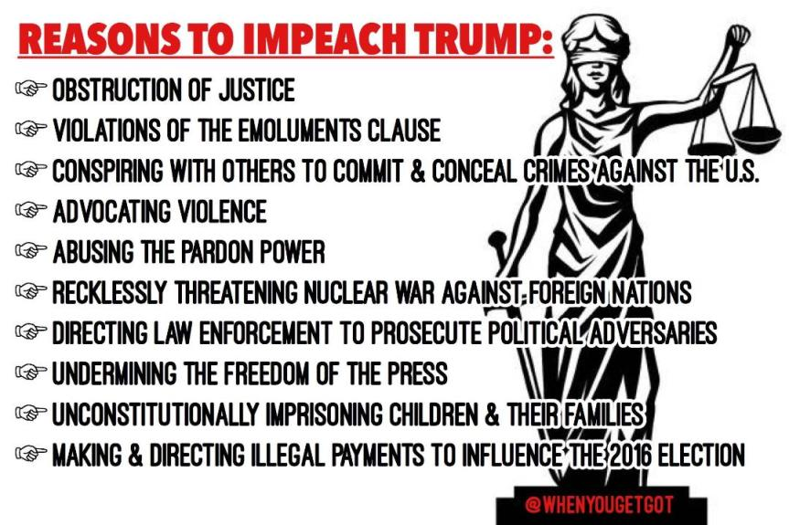 America at Risk. Impeach NOW Rally! Mark your Calendar for Oct 13th
