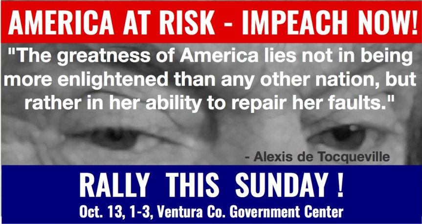 Sat 10/12: The public turns. The time to add pressure to the system is NOW! Take your place at the impeachment rally on SUNDAY!