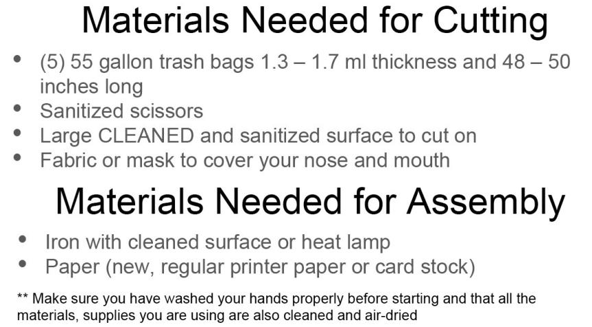 2 materials needed