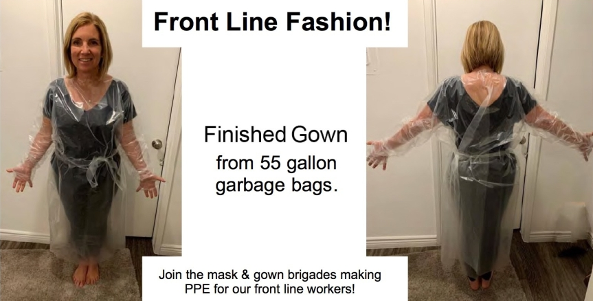 Wed. 4/15: Gown-Brigade volunteers! It's time to IRON! Instructions included here!