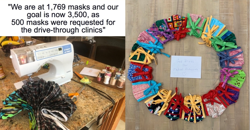 "Wed. 4/1: Update! Our front line needs more masks, thermometers & baby monitors! Also, sign up to join the new ""Gown Brigade!"""