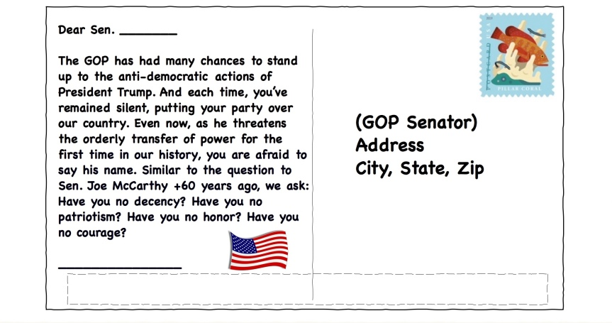 Thurs 9/24: Another postcard for the GOP.