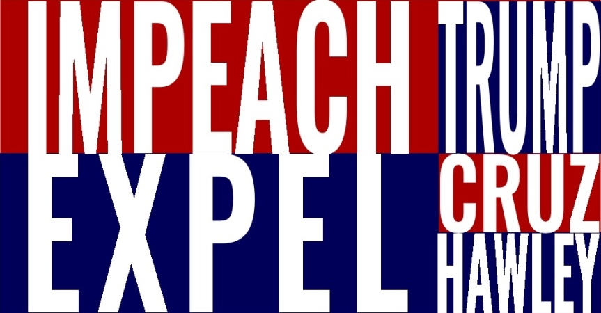 Thurs. 1/7/21: Impeach Trump. Expel his back-up band.