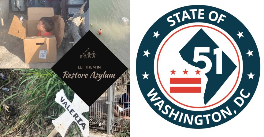 WANTED: Postcard writers for Washington DC statehood and the restoration of asylum.