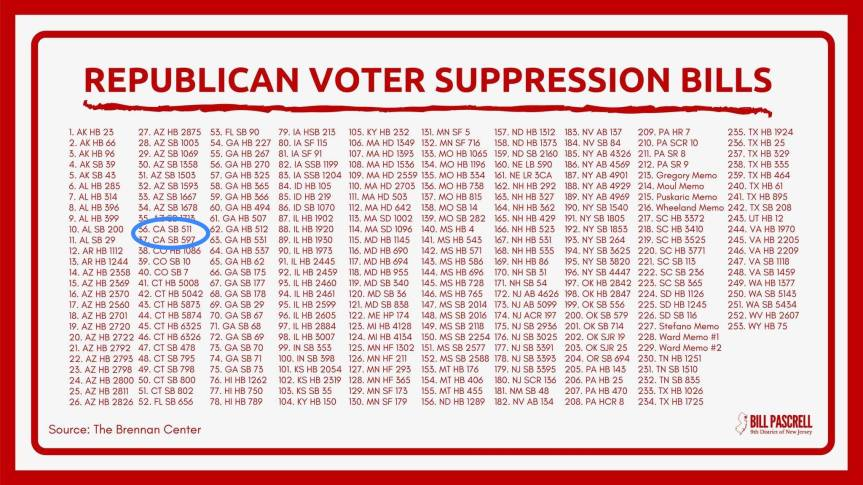 """State campsite rule: Clean up our own voter suppression messes and get H.R.1/S.1 – """"For the People Act""""passed."""