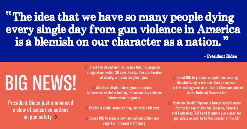 Joe's actions are a great start. Now let's pass some commonsense federal and state gun bills!
