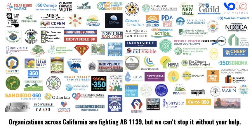 Utility companies are using AB 1139 to kill CA's rooftop solar industry. Our legislators are letting ithappen!