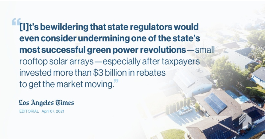 AB 1139 is an investor-owned utility proposal to kill rooftop solar in CA. Seriously.
