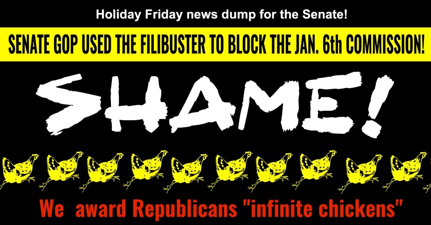 Friday, May 28, is the second act of the Jan. 6 insurrection. The Senate GOP just used the filibuster to block acommission.