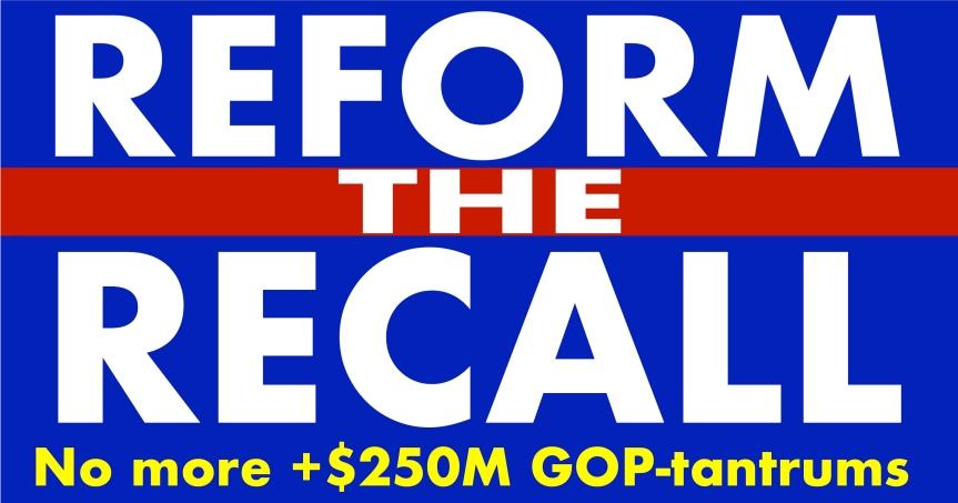The California recall isbroken.